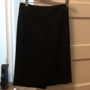 Black wool skirt pencil